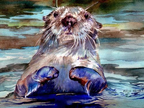 Alaskan Watercolors [Curious Otter]