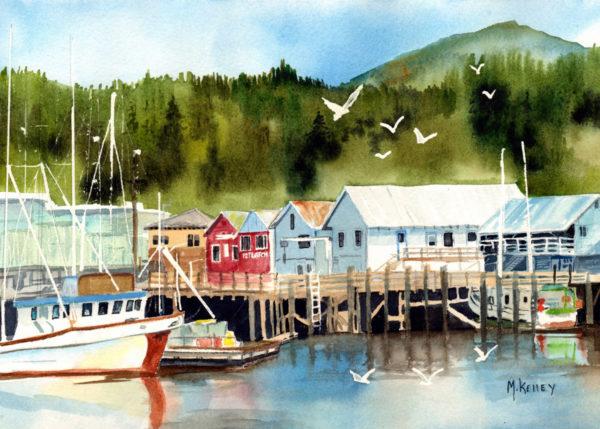 Custom Alaskan Watercolor of Thomas Basin