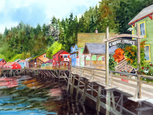 Creek Street. A Popular Alaskan Cruise Attraction