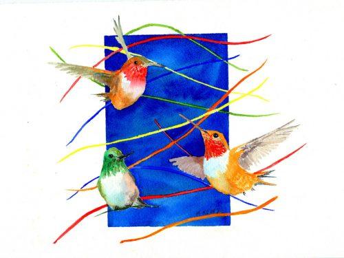 CONFETTI HUMMINGBIRDS